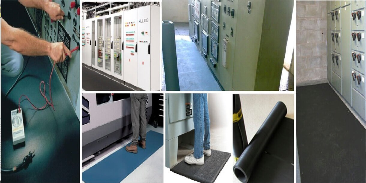 High Voltage Insulating Rubber Mats For Electrical Purpose