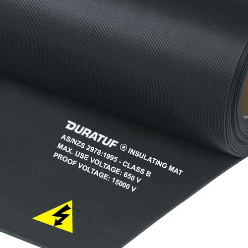 Duratuf Electrical Safety Mats AS/NZS 2978 Class B (Black)