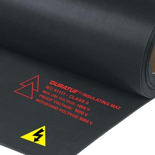 Duratuf Insulating Mats, Class 0 IEC 61111, Black